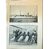 1898 のアメリカの船の Vesuvius の空気銃のビクトリア朝のライフルのチーム Bisley マーシャル
