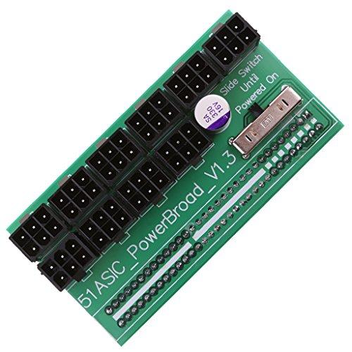 Fenteer 電源 ブレークアウトボード ビットコイン マイニング用 6ピン アダプタ HP 1200W/750W 全2種選択 - 異なる側
