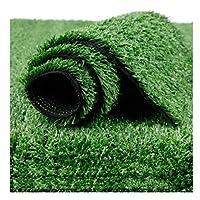 人工芝グラスカーペット2m X 1m 15mmパイルハイトガーデンテラスローン高密度ホリデーローン-アーミーグリーン(サイズ:2x4m),2x2.5m