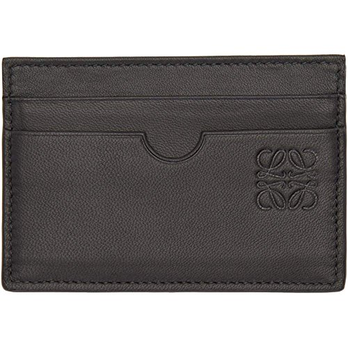(ロエベ) Loewe メンズ カードケース・名刺入れ Black Leather Card Holder [並行輸入品]
