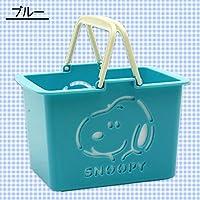 ティーズ 収納かご スヌーピー PEANUTS ミニカラーバスケット ブルー SN-5519114BL
