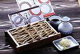 新潟 皇室献上へぎ蕎麦の老舗 越後十日町 小嶋屋 半生蕎麦110g 4束つゆ付き 贈答品