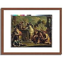 Ricci, Sebastiano,1659-1734 「ヘスティアへの生贄」 インテリア アート 絵画 プリント 額装作品 フレーム:木製(茶) サイズ:M (306mm X 397mm)
