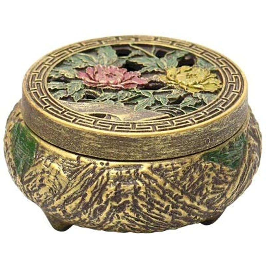 野望勉強する鎮痛剤PHILOGOD 香炉 仏壇用線香立て エンボス加工印刷する 香置物 香皿 (Brown1)