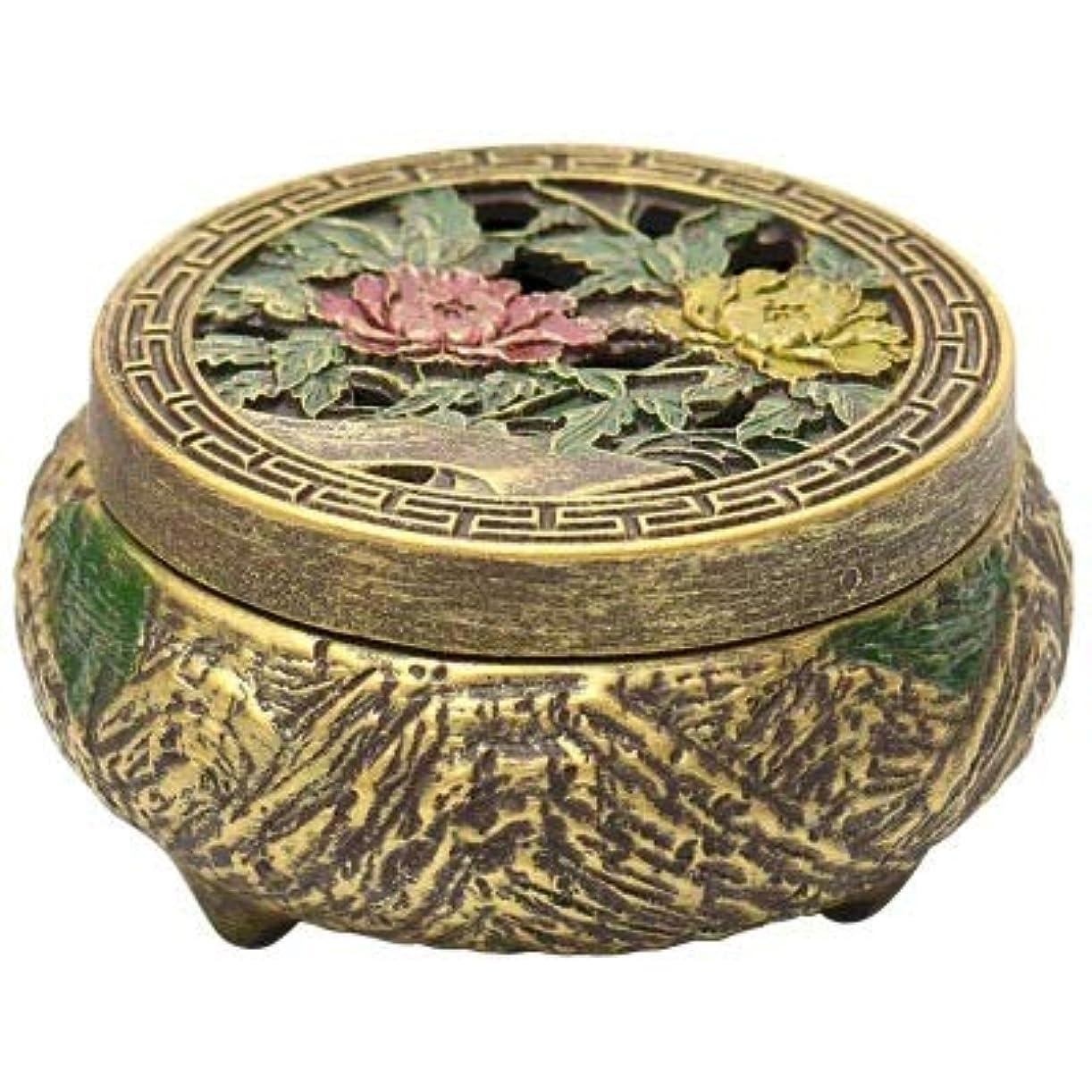 相対サイズ毒エキサイティングPHILOGOD 香炉 仏壇用線香立て エンボス加工印刷する 香置物 香皿 (Brown1)