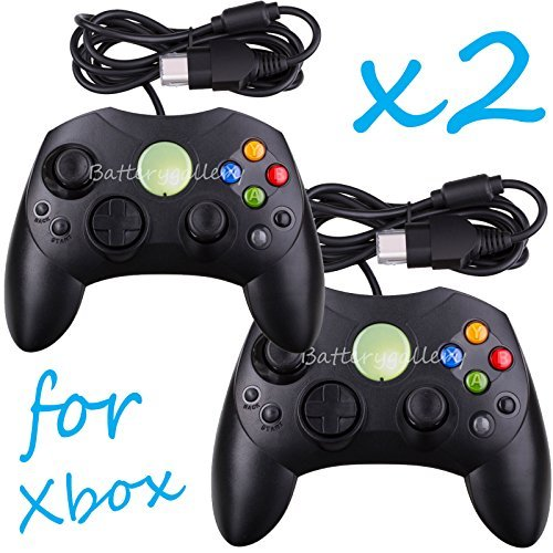 2 LOT NEW Black Controller Control Pad for Original Microsoft XBOX X System by Wirez4u