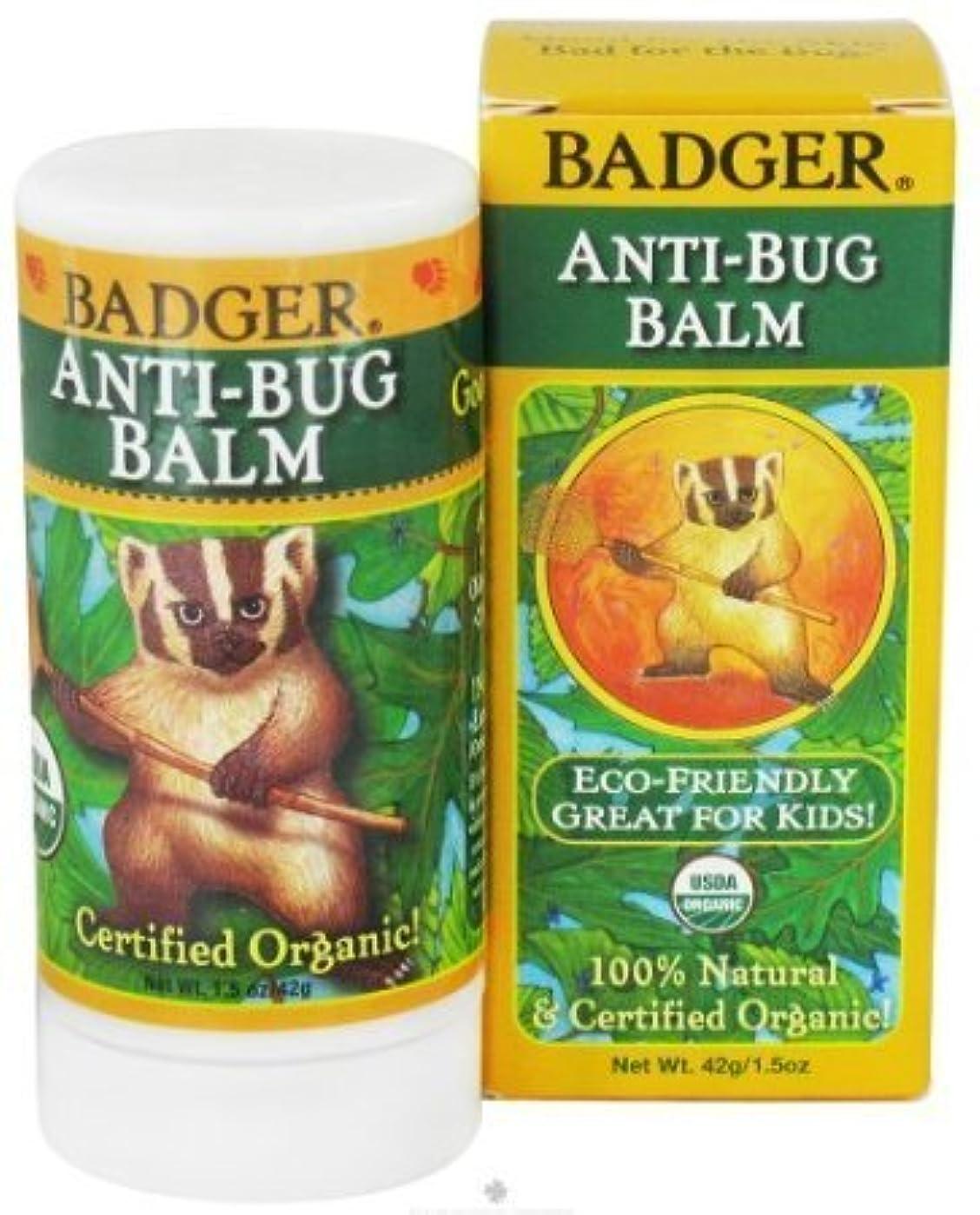 アレルギー容量永遠に[海外直送品] バジャー(Badger) プロテクトバームスティック(虫よけバーム) 42g