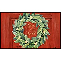 LANG - Indoor/Outdoor Door Mat - Joy to the World Exclusive Artwork by Jane Shasky - 100% Polyester - Slip-Resistant Rubber Backing - 18 h x 30 w [並行輸入品]