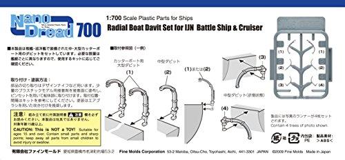 1/700 ナノ・ドレッドシリーズ ラジアルボートダビットセット1