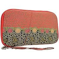 Warrina Designs Aboriginal Wristlet Wallet Passport Hand Bag - Authentic Aboriginal Art