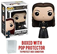 Funko POP 。games of thrones – Sansa Stark Vinyl Figure (バンドルwith Popボックスプロテクターケース)