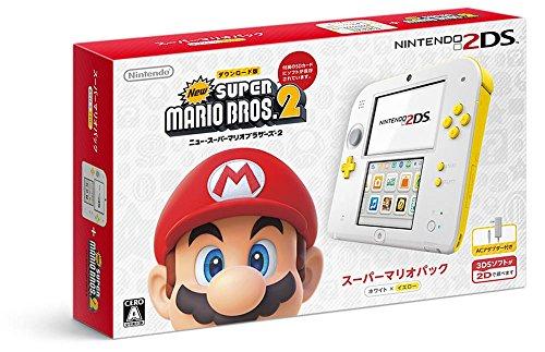 ニンテンドー2DS スーパーマリオパック【ホワイト×イエロー】【Amazon.co.jp限定】オリジナルストラップ付
