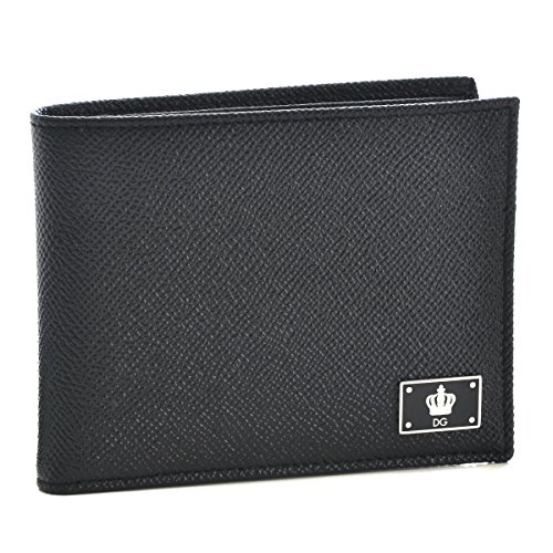 Dolce&Gabbana(ドルチェ&ガッバーナ) 財布 メンズ 型押しカーフスキン 2つ折り財布 ブラック BP0457-AC967-80999 [並行輸入品]
