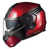 OGKカブト/システムヘルメット/KAZAMI カザミ カラー:シャイニーレッド/ブラック サイズ:S