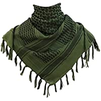 Kingree Military Shemagh Tactical Desert 100% Cotton Keffiyeh Scarf Wrap, Shemagh Head Neck Scarf, Arab Scarf