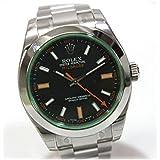 ROLEX(ロレックス) ミルガウス グリーンガラス メンズ腕時計 SS 自動巻き 116400GV ランダムシリアル ルーレット刻印 KK ロレックス ミルガウス ロレックス メンズ腕時計