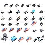 ArduinoとRaspberry Pi用センサー 37個セット センサー モジュール キット 37in1 [並行輸入品]