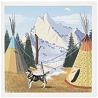 Edmond Hogge Jr Indians–チェロキー村–グリーティングカード Set of 6 Greeting Cards