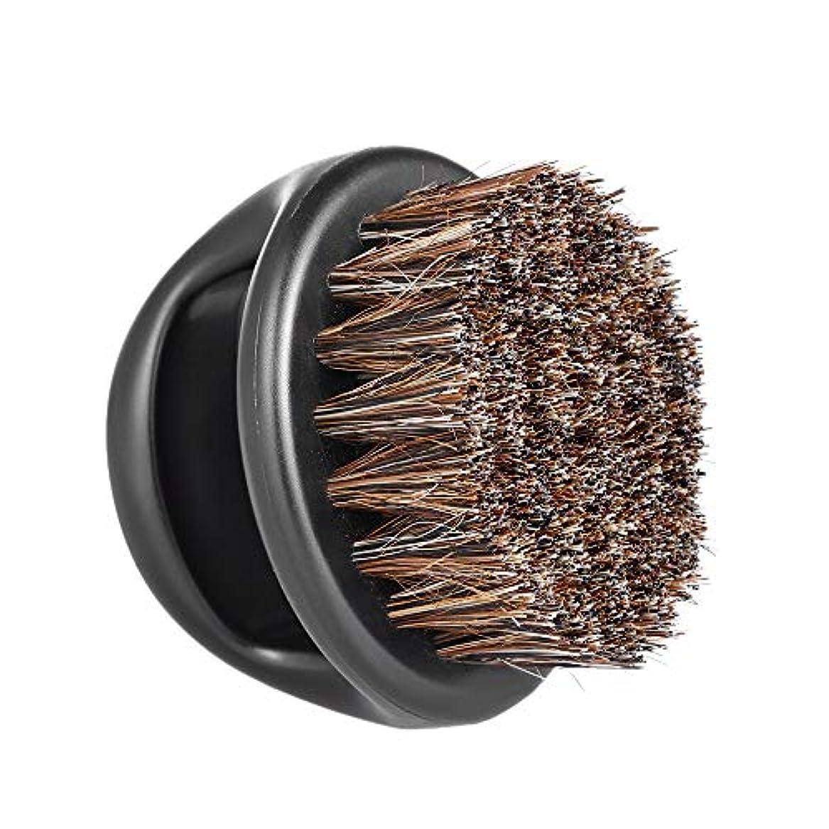 市区町村置き場航海のMen's Beard Brush Facial Hair Comb Barber Neck Face Duster Hair Sweep Brush Mustache Shaving Brush for Hairdressing...