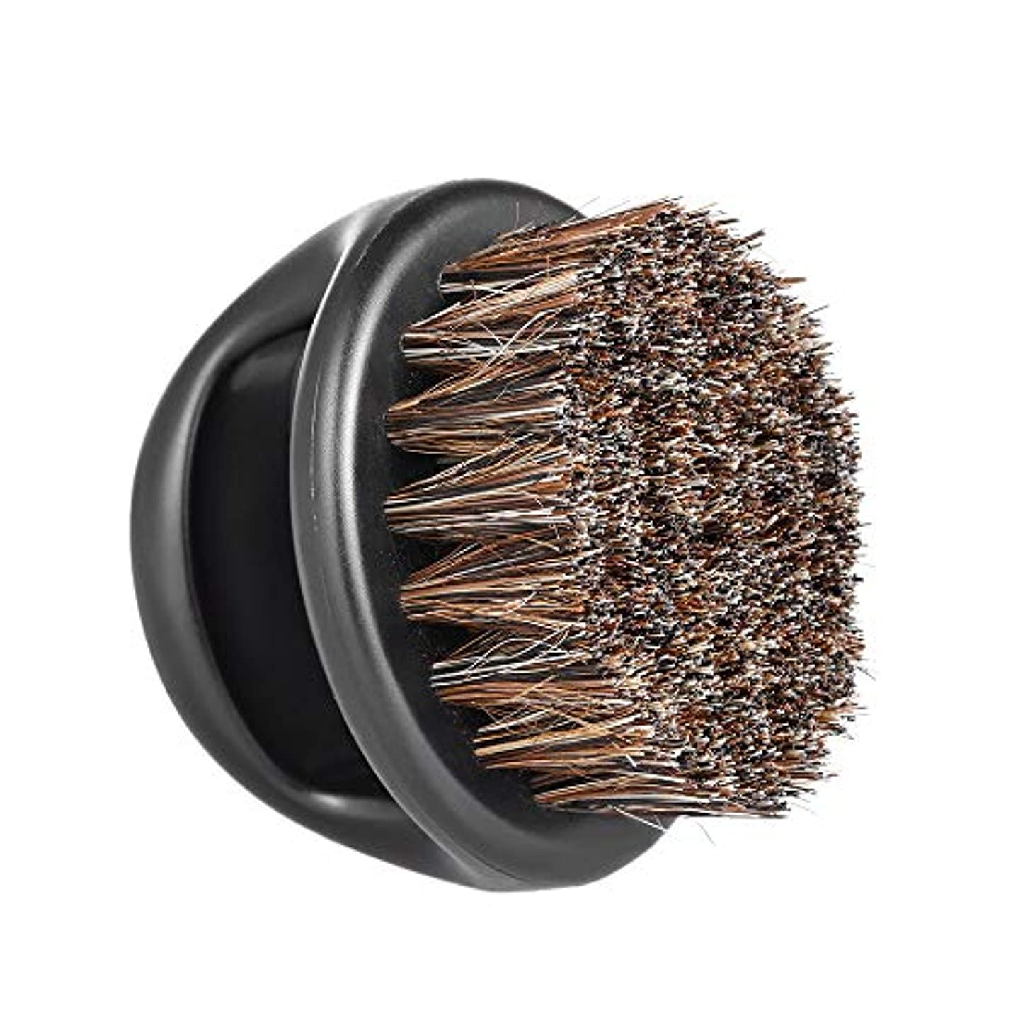 シンプルな宙返り再発するMen's Beard Brush Facial Hair Comb Barber Neck Face Duster Hair Sweep Brush Mustache Shaving Brush for Hairdressing...