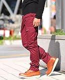 カーゴパンツ メンズ スリム ミリタリー 黒 カーキ ストレート【q946】 スペード画像④