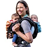 TwinGo Carrier - Lite Model - Classic Black - Works as a Tandem or Single Baby Carrier (Extra Straps Sold Separately). Adjust