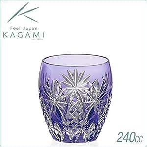 カガミクリスタル ロックグラス(矢来重に星紋) 240cc 江戸切子 T727-2668CMP