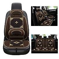 パッドの車の冷却カー木製のビーズクッションに囲まれ通気性コンフォート補強用品 (Color : Brown, Size : D)