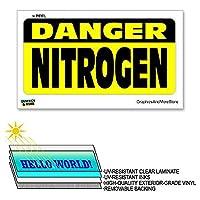 危険窒素 - 12×6で - ラミネート符号ウィンドウビジネスステッカー