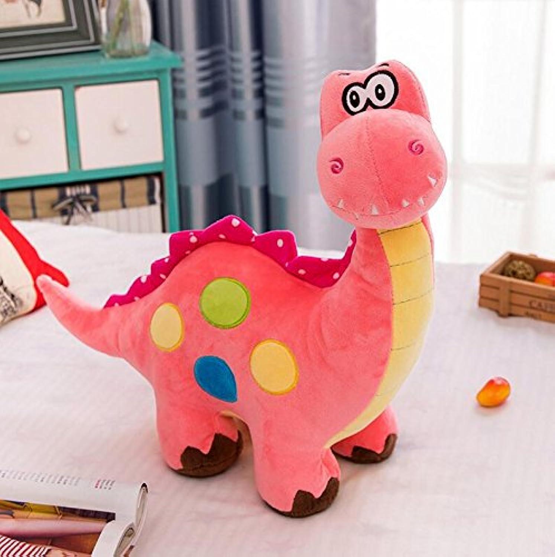 HuaQingPiJu-JP ぬいぐるみ30cm恐竜ぬいぐるみぬいぐるみぬいぐるみキッズ誕生日パーティーギフト(ピンク)