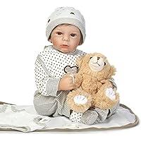 SanyDoll Rebornベビー人形ソフトSilicone 22インチ55 cm磁気Lovely Lifelike Cute Lovely Baby b0763 m315q