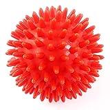 アウトドア用品 KaLaiXing® スパイキー・マッサージ・ボール、ハード・ストレス・ボール8.0センチフィットネス・スポーツ・エクササイズ用。ヨガ、ジム、フィットネス、スポーツ--orange
