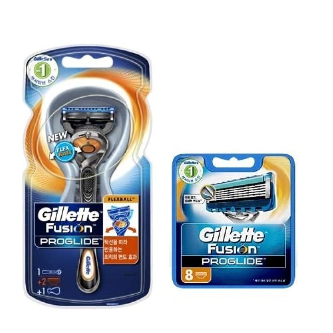 曲方向湿ったGillette Fusion Proglide Flexball Manual メンズ1剃刀10剃刀刃 [並行輸入品]