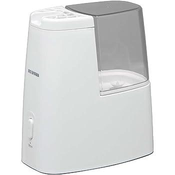 アイリスオーヤマ 加熱式加湿器 タンク容量1ℓ クリア アロマトレー付き SHM-120D-C