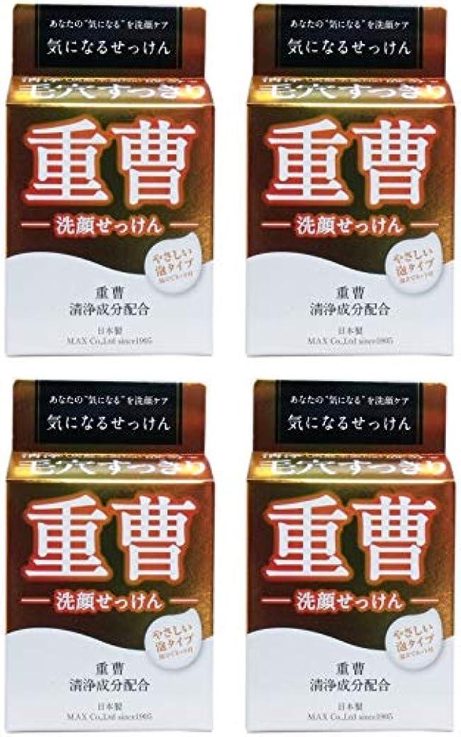 細部再開物理学者【まとめ買い】気になる洗顔石鹸 重曹 80g【×4個】