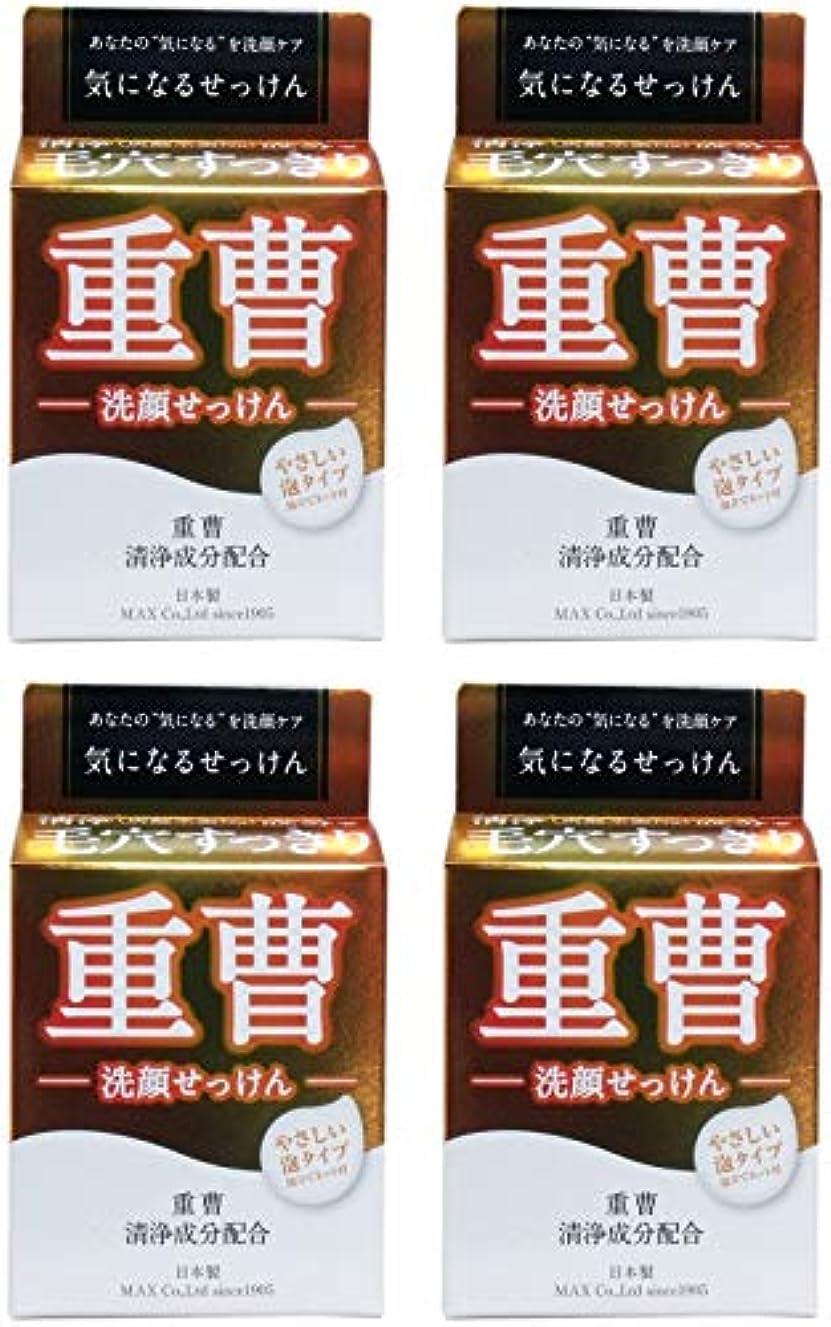 チャンバー擬人トレイル【まとめ買い】気になる洗顔石鹸 重曹 80g【×4個】
