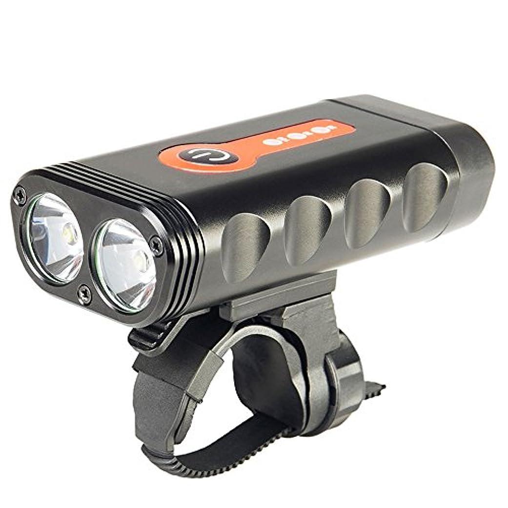 葉っぱガロン母性強い光LED自転車ライトUSB高輝度道路マウンテンバイク防水ナイトライド長寿命の探索ライトを充電する