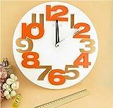 シンプル デザイン モダン アート 3D ウォール クロック 立体 壁掛け 時計 【笑顔一番】A064-06 (ホワイト)