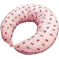 マルチに使える ベビー&ママクッション シムス 抱き枕 授乳 お座りサポート (ローズブーケ)