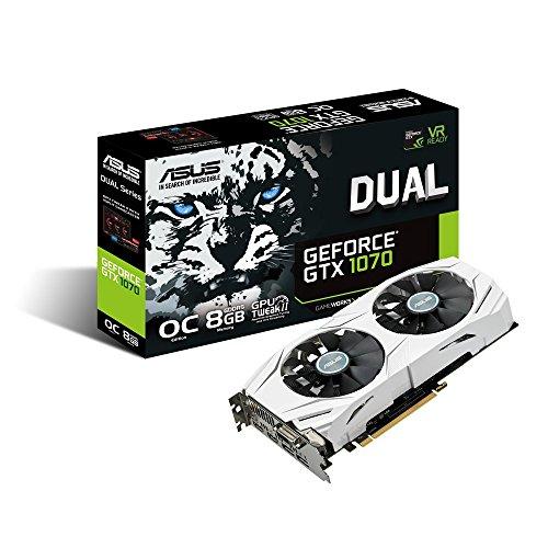 ASUSTek NVIDIA GeForce GTX1070搭載ビデオカード オーバークロック メモリ8GB DUAL-GTX1070-O8G