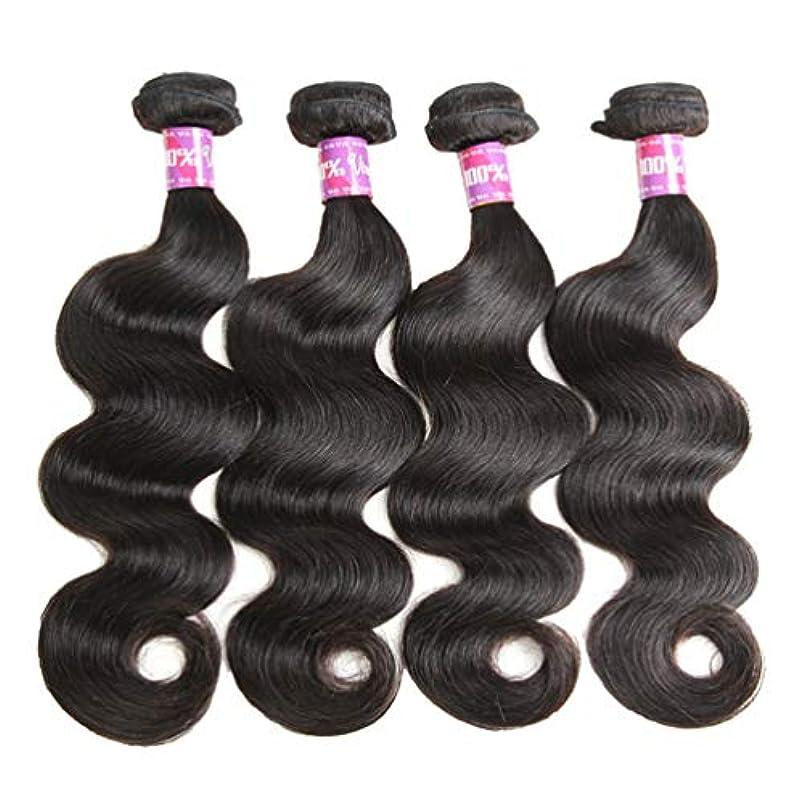 パワーセル文法物理的に女性10Aブラジル人毛束人毛織り人毛束ブラジルのボディウェーブ束(3束)