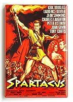 Spartacus 映画ポスター 冷蔵庫マグネット (2.5 x 3.5インチ)