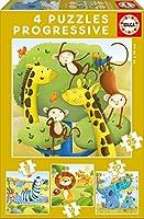 Wild Animals progresive puzzle 12-16-20-25pcs / 野生動物Progresiveパズル12-16-20-25pcs