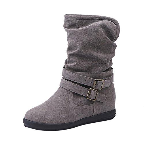 ブーツ Hosam レディース ブーツ インヒール 裏起毛 柔らかい 上品なデザイン シンプル 美脚...