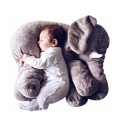 リアルぬいぐるみ アフリカゾウ/象 Elephant Plush Toys 特大 インテリア Birthday Gift  キッズ子供 おもちゃ 動物 ぬいぐるみ  60cm (グレー)
