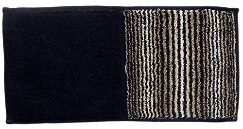 今治タオル ハンカチ 縞縞×ゴールドパール ハーフ タオル 05無彩