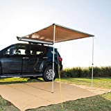 Kings Premium Side Awning 2 x 2.5m Waterproof Canvas with Free Strip Lights 4WD