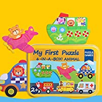 Niceou 早期教育パズル木製ジグソーパズルおかしいパズル6個/セット教育ベッドルーム