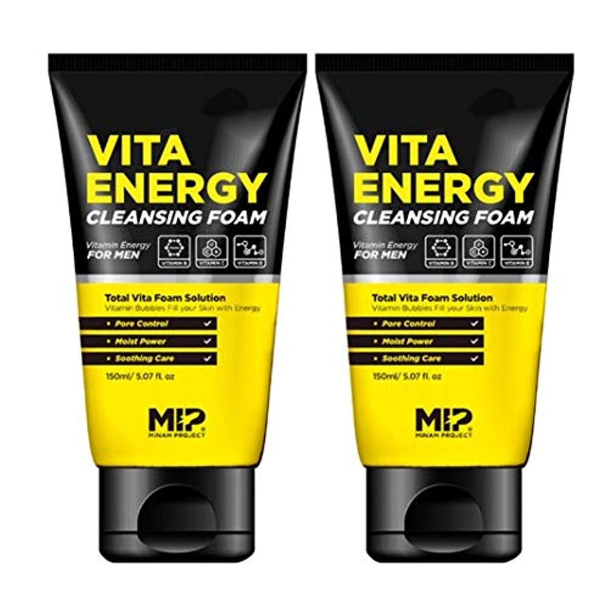 収穫ストライプ手術MIP VITA ENERGY CLEANSING FOAMクレンジング?フォーム300ml MEN's Cosmetic[海外直送品]