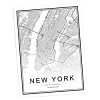 PETSOLA 北欧 世界 都市 地図 ポスター アート キャンバス絵 家装飾 キャンバスの絵画 多種選べる - 6#